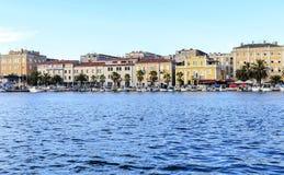 Хорватия zadar Улицы города на заходе солнца Стоковое фото RF