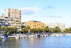 Хорватия zadar Улицы города на заходе солнца Стоковые Изображения