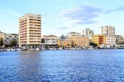Хорватия zadar Улицы города на заходе солнца стоковые фотографии rf