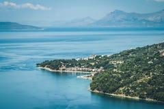 Хорватская береговая линия Стоковая Фотография RF