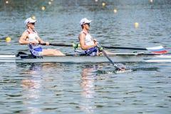 Хорватские спортсмены на rowing конкуренции чашки мира гребя Стоковое Изображение