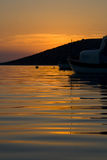 хорватский заход солнца Стоковое Изображение RF