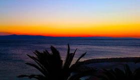 хорватский заход солнца Стоковое Фото