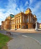 Хорватский национальный театр стоковые фотографии rf