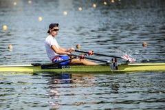 Хорватский спортсмен на rowing конкуренции чашки мира гребя Стоковые Фотографии RF