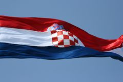 хорватский флаг Стоковое фото RF