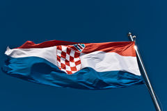 хорватский флаг Стоковое Фото