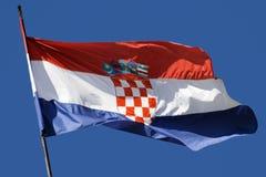 хорватский флаг Стоковая Фотография