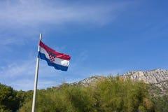 Хорватский флаг Стоковое Изображение RF