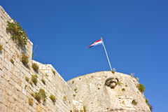 Хорватский флаг Стоковое Изображение