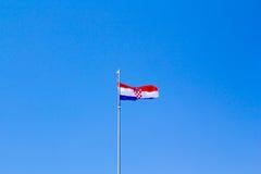 хорватский флаг стоковые фотографии rf