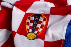 Хорватский jersey национальной команды футбола стоковые изображения