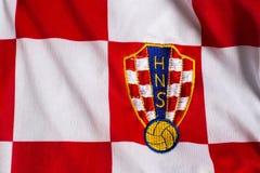 Хорватский jersey национальной команды футбола стоковое фото rf