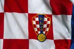 Хорватский jersey национальной команды футбола стоковое фото
