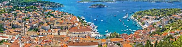 Хорватское туристское назначение Hvar Стоковая Фотография RF