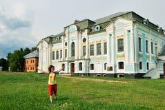хором griboedov около туристской женщины Стоковые Фотографии RF