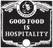 Хорошая еда гостеприимство бесплатная иллюстрация