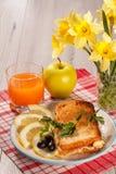 Хорошая и очень вкусная еда и напитки для здравицы завтрака с Стоковые Фото