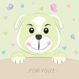 Хорошая милая собака карточка 2007 приветствуя счастливое Новый Год Стоковая Фотография RF