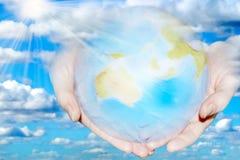 хорошая планета руки Стоковые Фото