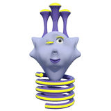 Хорошее маленькое животное фантазии Оно имеет весну вместо ног пурпурово игрушка бесплатная иллюстрация