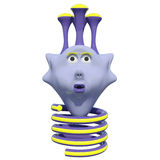 Хорошее маленькое животное фантазии Оно имеет весну вместо ног пурпурово игрушка иллюстрация штока