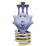 Хорошее маленькое животное фантазии Оно имеет весну вместо ног пурпурово игрушка иллюстрация вектора