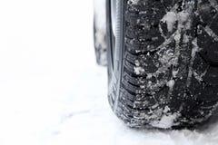 Хорошие автошины зимы важны Стоковая Фотография