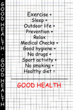 хорошие здоровья принципиальной схемы иллюстрация вектора