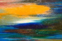 Хорошие мазки акварели яркого цвета стоковое изображение