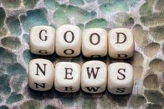 Хорошие новости слова Стоковые Изображения