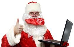 хорошие новости santa claus стоковое фото