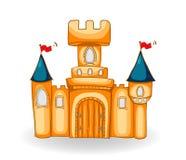 Хороший замок сказки с тенью иллюстрация штока
