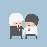 Хороший руководитель дает некоторый совет для его команды бесплатная иллюстрация