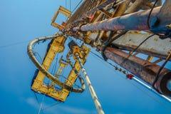 Хороший сверлить для продукции нефти и газ на поле стоковое изображение rf
