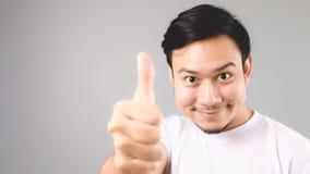 Хороший для вас, стороны и большого пальца руки вверх по знаку Стоковая Фотография RF
