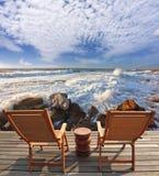 Хорошо восхищенный бурный прибой моря Стоковые Изображения