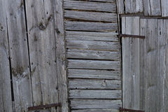 Хорошо выдержанный siding амбара Стоковые Фото