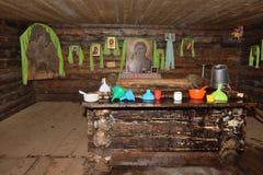 Хорошо, имя пользователя деревянный дом Стоковое Фото