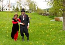 Хорошо одетые пары в стране blackfly Стоковая Фотография RF
