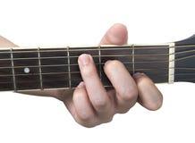 Хорда c гитары с белой предпосылкой Стоковое Изображение