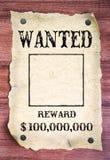 Хотят плакат Стоковая Фотография
