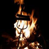 Хот-доги жарки Стоковые Фотографии RF