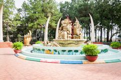 Хошимин, Вьетнам, 12,25,2017 парк атракционов Suoi Tien Стоковое Изображение