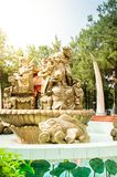 Хошимин, Вьетнам, 12,25,2017 парк атракционов Suoi Tien Стоковые Изображения RF