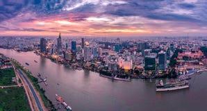 Хошимин Вьетнам Сайгон стоковое фото rf