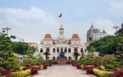 Хошимин Hall или Гостиница de Ville de Сайгон, Вьетнам. стоковые изображения