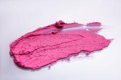 Ход губной помады розовый на белой предпосылке Стоковое Изображение RF
