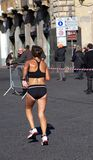 Ход женщины - марафон Стоковое Изображение