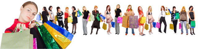 ходите по магазинам наилучшим образом Стоковые Изображения RF
